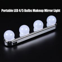 Portable LED 4 Bulbs Makeup Mirror Light  Hollywood Vanity Wall Lamp Kit Lights for Dressing Table Lighting LED Makeup Lights