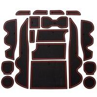 Copo apto personalizado  acessórios do forro do console do centro da porta para tacoma 2019 2018 2017 2016 19 conjunto do computador (táxi dobro  guarnição vermelha)