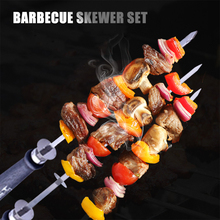 Grilling Kabob Barbecue-Skewer Bbq-Tools Vegetables Meats Stainless-Steel for Hot Dog