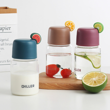 250MLmini cute fresh glass lady student portable water cup simple small fruit shape