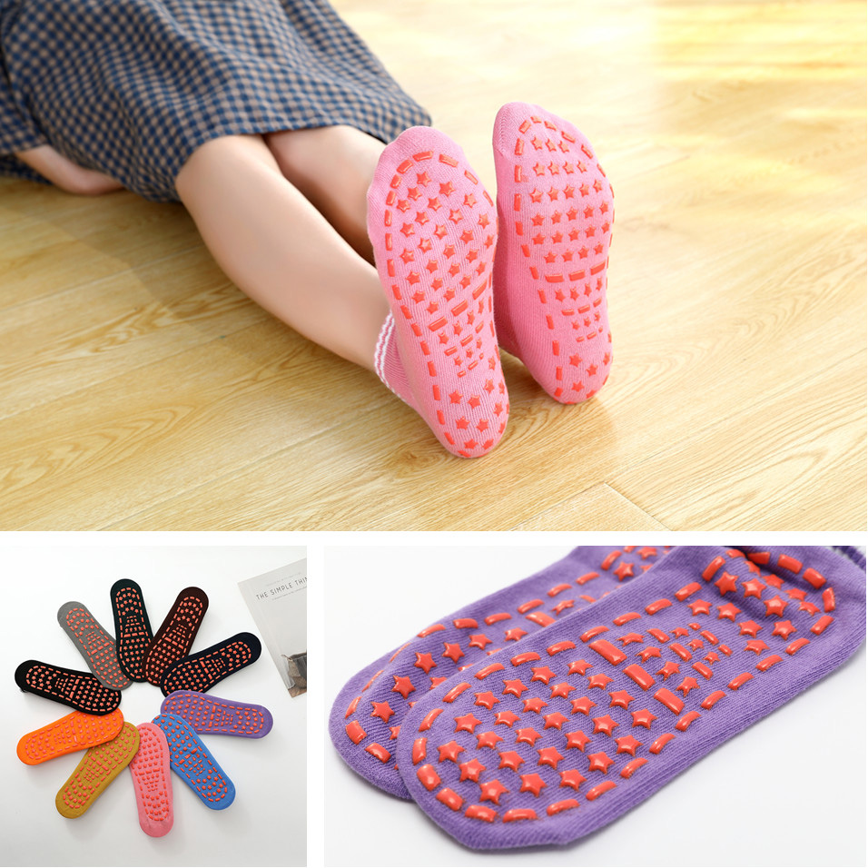 Four Season Non-slip Breathable Floor Sock Children Candy Color Cotton Yoga Sock Fluffy Thick Ankle Socks Early Education Socks