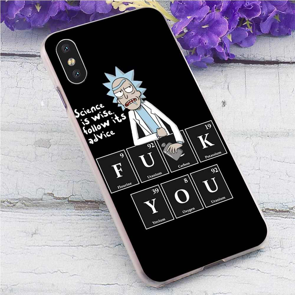 Rick y Morty duro de la cubierta para el iPhone 6 plus teléfono carcasa para iPhone 6 6S 7 plus 8 X Xs X Max XR 11 Pro 5 5S SE cubre de vuelta