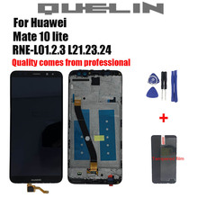 New For Huawei Mate 10 Lite LCD Display+Touch Screen Digitizer Screen Glass Panel Assembly+frame Replacement for Mate 10 Lite 100% new for huawei mate 8 lcd display touch screen digitizer glass sensor assembly replacement parts free shipping