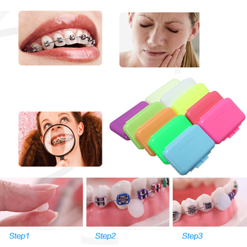 Dental Braces Orthodontic Protection Wax Fruit Smell Stimulates Gums Oral Care Teeth Whitening image
