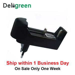 Image 3 - Deligreen Universal  18650 Battery Charger Li ion Rechargeable Smart Charger for 14500 ,16340 Batteries 1pcs  US EU PLUG