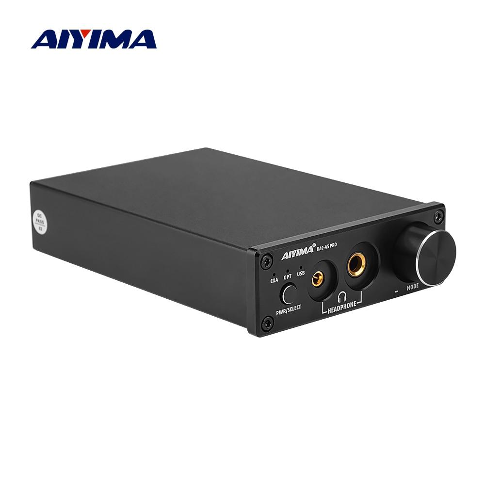 AIYIMA DAC-A5 PRO TPA6120 мини USB DAC декодер аудио усилитель для наушников 24BIT 192 кГц LM49720 ESS9018Q2M AMP DC12V US/EU