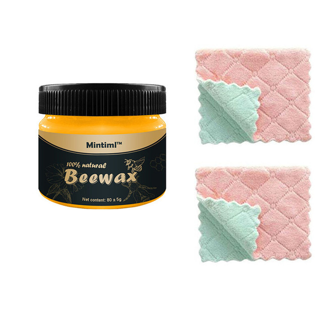 New Wax Wood Seasoning Beewax Organic Natural Pure Complete Solution Furniture Care Beeswax Home Cleaning Polishing  Wood Care 5