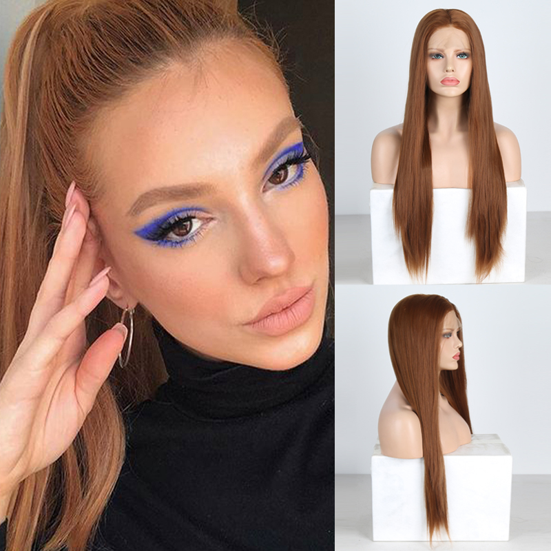 Charisma-Peluca de pelo sintético Natural para mujer, pelo liso sedoso, malla con división frontal, pelucas para uso diario de alta temperatura