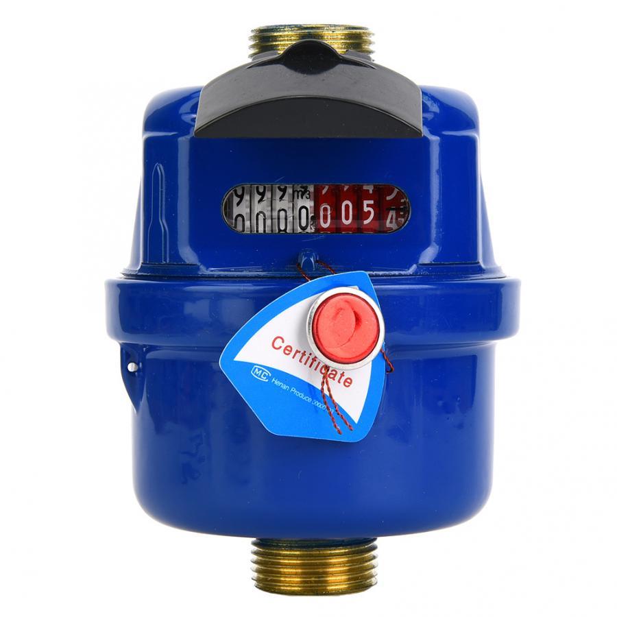 Compteur d'eau LXS-15E 15mm anti-parasitage cuivre eau froide compteur compteur jauge testeur pour jardin usage domestique