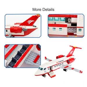 Image 5 - Sluban 0370 City Seriesการบินการแพทย์รถพยาบาลเครื่องบินรถบรรทุกรถตัวเลขการศึกษาอาคารบล็อกของเล่นสำหรับของขวัญเด็ก