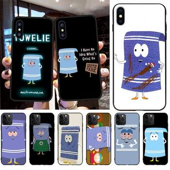 CUTEWANAN New towelie episode DIY Painted Bling Phone Case for iPhone 11 pro XS MAX 8 7 6 6S Plus X 5S SE 2020 XR case image