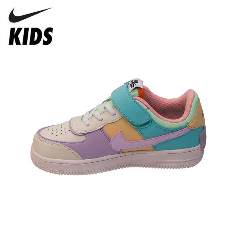 Nike Air Force 1 Original Kids Shoes New Arrival Children Skateboarding Shoes Comforbale HOOK&LOOP Sports Sneakers #CI0919