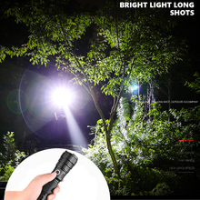 Super strong male LED flashlight XHP70 Zoom Torch most powerful T6 / XHP50 built-in18650 battery emergency lantern best gift