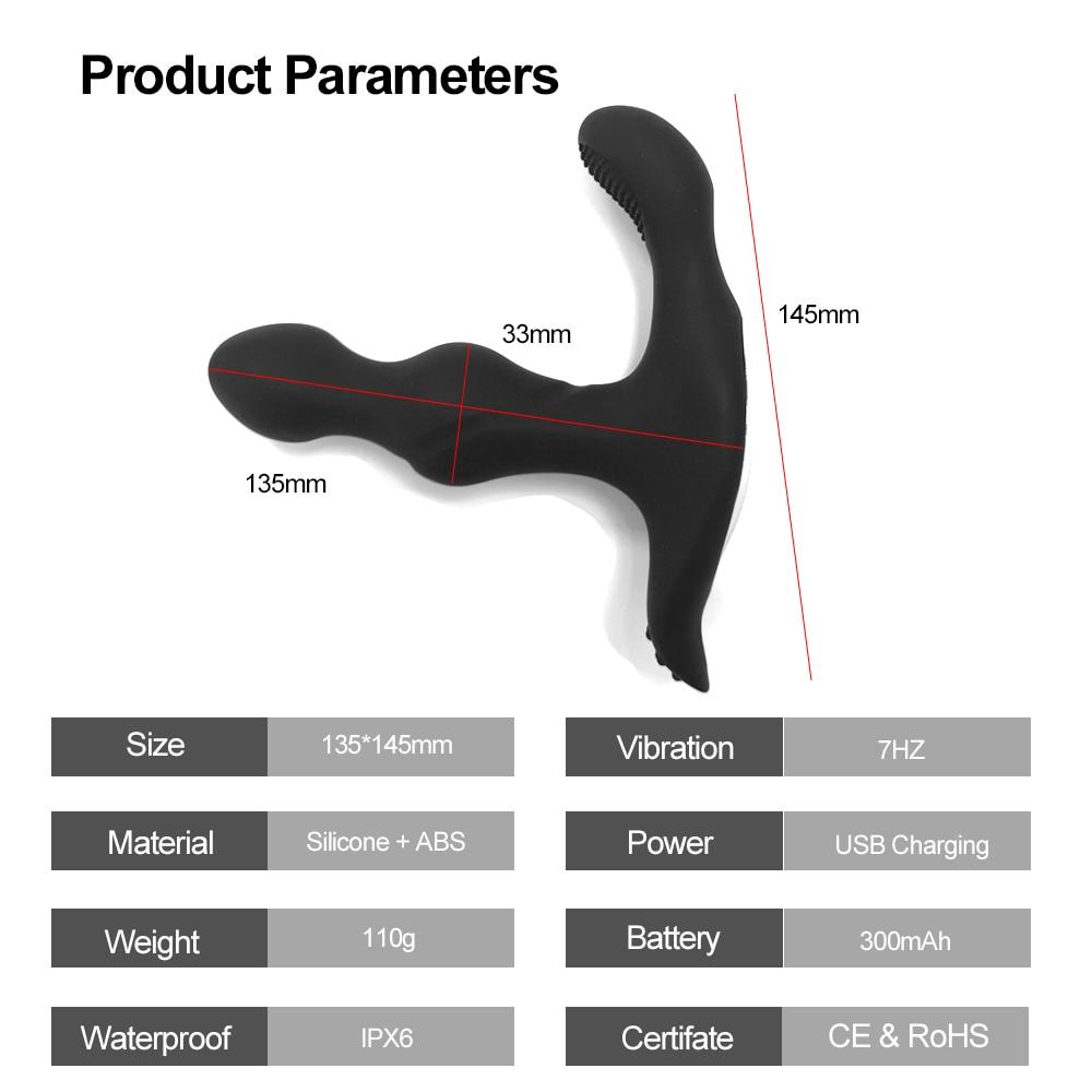Vibrating Prostate Massager Men Butt Anal Plug Stimulator Clitoris Vaginal Wearable Vibrator Sex Toys for Adult