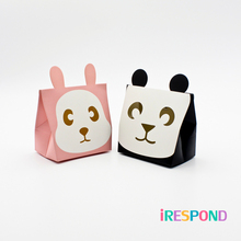 50PCS Small Animal Box Panda Rabbit Cookie Candy Kids Baby Birthday Party Favor Paper Gift Packaging Wedding Decoration