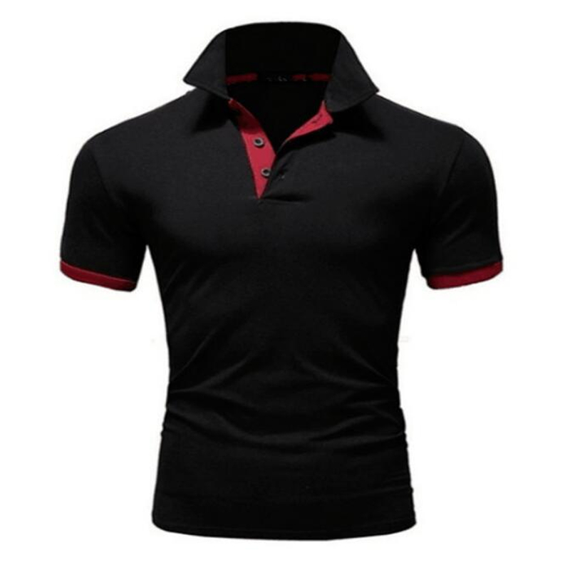 Mens Polo Shirt 2019 New Summer Short Sleeve Turn-over Collar Slim Tops Casual Breathable Solid Business Shirt