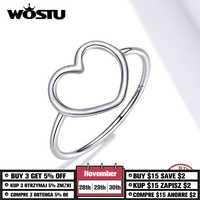 Wosu 925 Plata de Ley cola larga ratón anillos abiertos ajustables para fiesta mujeres anillo dedo joyería de moda 2020 nueva llegada CQR632