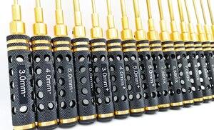 Image 5 - 16Pcs Hollow Placcatura di Titanio 1.5/2/2.5/3mm Cacciavite Esagonale Chiave A Tubo Vite Tool Kit Driver per il Modello di RC Auto Barca Aereo