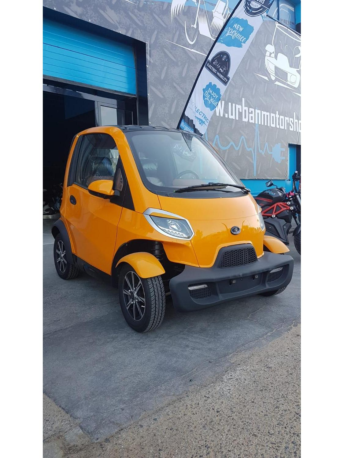 Electric CAR Without License. Microcoche 4000w. Two Seater, Air Conditioner, Rear Camera