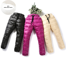2019 Autumn Winter Pants For Boy Thicken Girls Leggings Warm Plus Velvet Trousers Corduroy Thick Kids Sport
