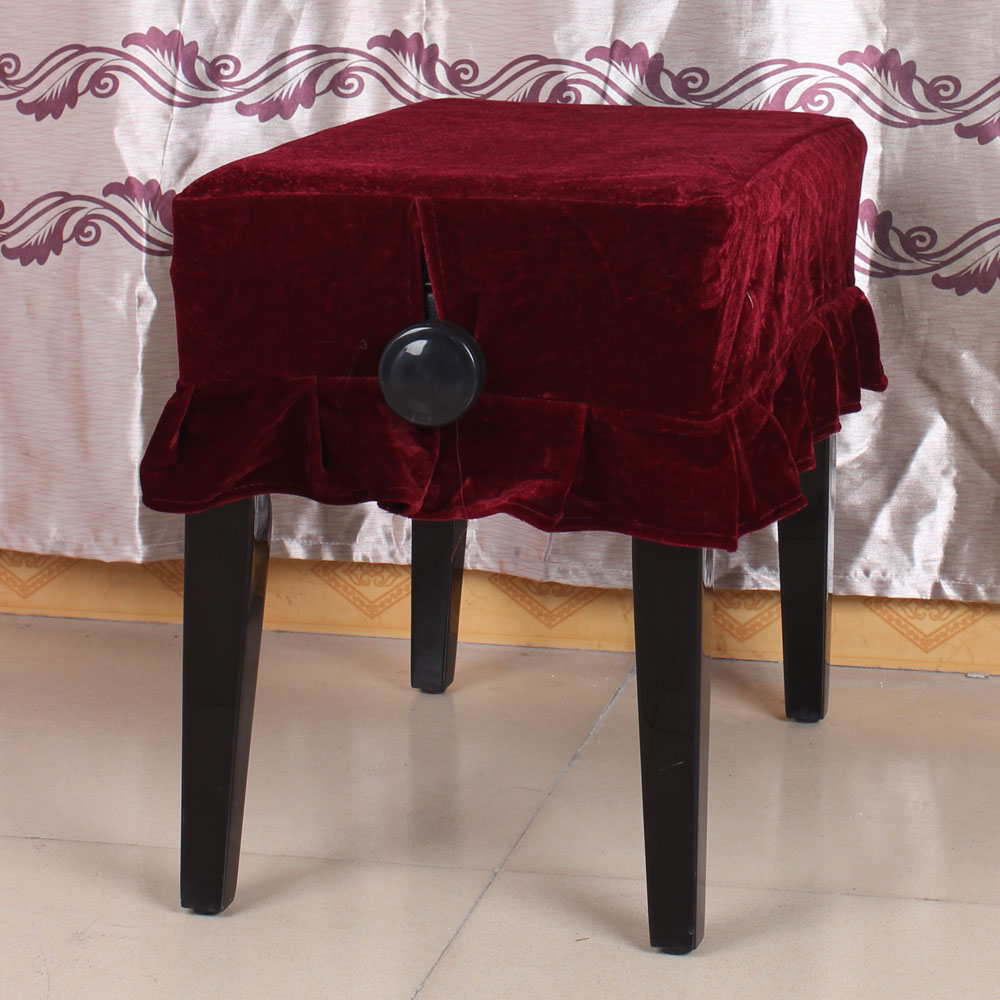 Piano Stool Chair Cover Pleuche Decorated With Macrame 55 * 35cm For Piano Single Chair Universal Beautiful