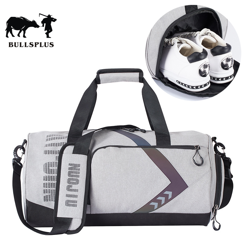 Round Bag Gym Bag Men's Sports Separate Shoes Female Wet And Dry Separation Short Trip Luggage Bag Travel Bag