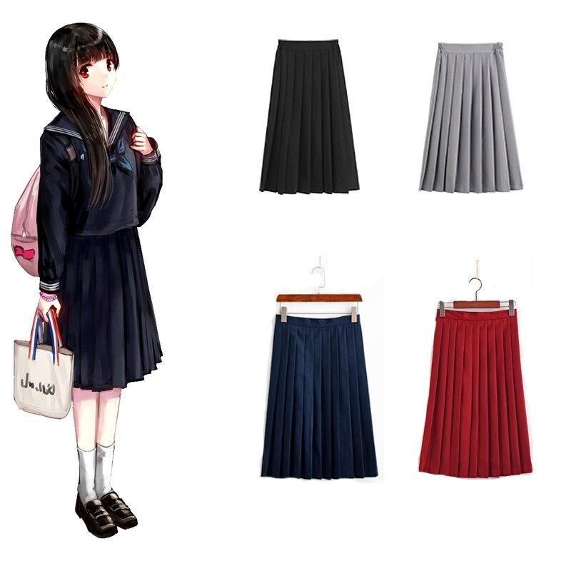 New Arrival Pleated Skirt Spring Autumn Skirt Female High Waist JK Uniform Skirt Japanese JK School Girl Uniform Sailor Suits