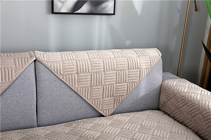 Modern minimalist sectional sofa cover armchair solid color