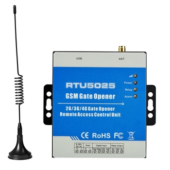 RTU5025 3G 850/1900MHz Wireless Alarm Gate Opener Remote Switch for Door Gate Access Remote Switch ON/Off US Plug