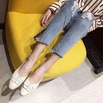 цена на Ballet flats Zapatos De Mujer Zapatos Mujer Soft PU Loafers Women flats Basic Solid Casual Slip-on Rubber Round Toe Shallow