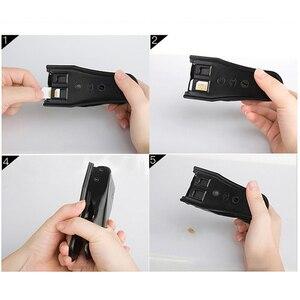 Image 4 - 3 em 1 micro/padrão para nano sim cartão ferramenta de cortador para apple iphone 6/7/8 samsung em88