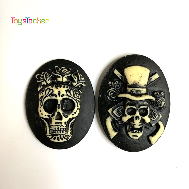 5PCS 2019 High-Quality Black Ghost Brooches Lapel Clothes Bag Funny Gothic Punk Jewelry Gift For Halloween Slime Charms