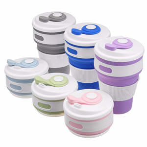 Coffee-Cup Telescopic Folding Drinking Collapsible Silicone 100pcs Bpa-Free Wholesale