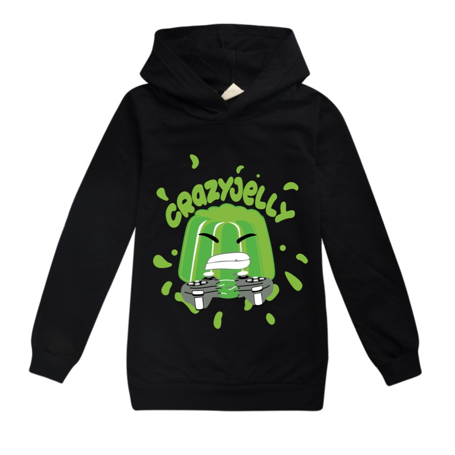 Baby Boys Thin Long Sleeve Kids Clothes Cartoon Jelly Youtube Print Hoodies Girl Costume Children Sweatshirts Top Tees 1