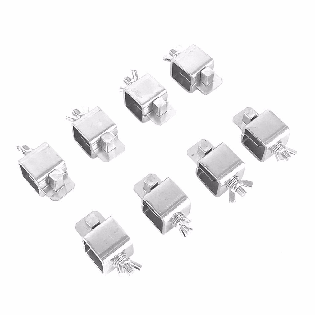 20# 8PCS Butt Welding Clamp Sturdy Durable Clip Sheet Alignment Positioner Straight Panels for Automobile Car Truck Door Skins (silver)