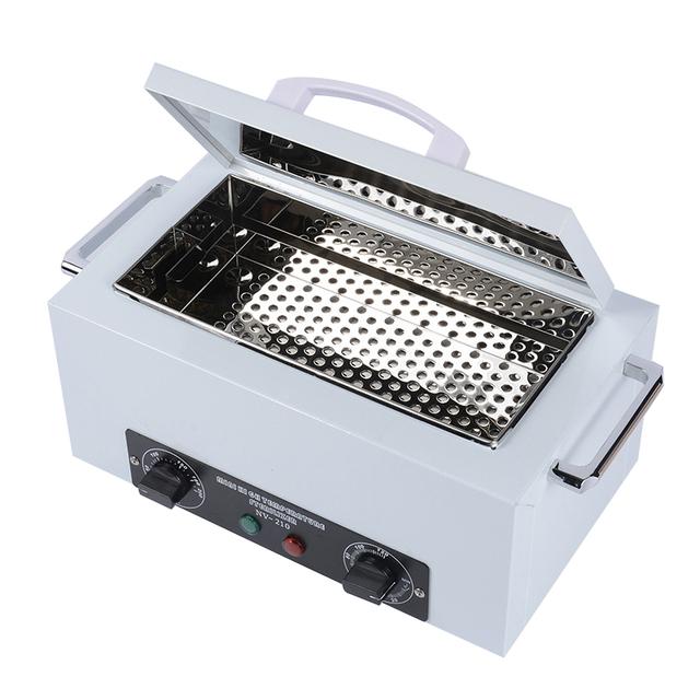 300W High Temperature Manicure Sterilizer Nail Art Equipment  EU Plug Nail Art Sterilizer with Disinfection Cabinet Hot Air HWC