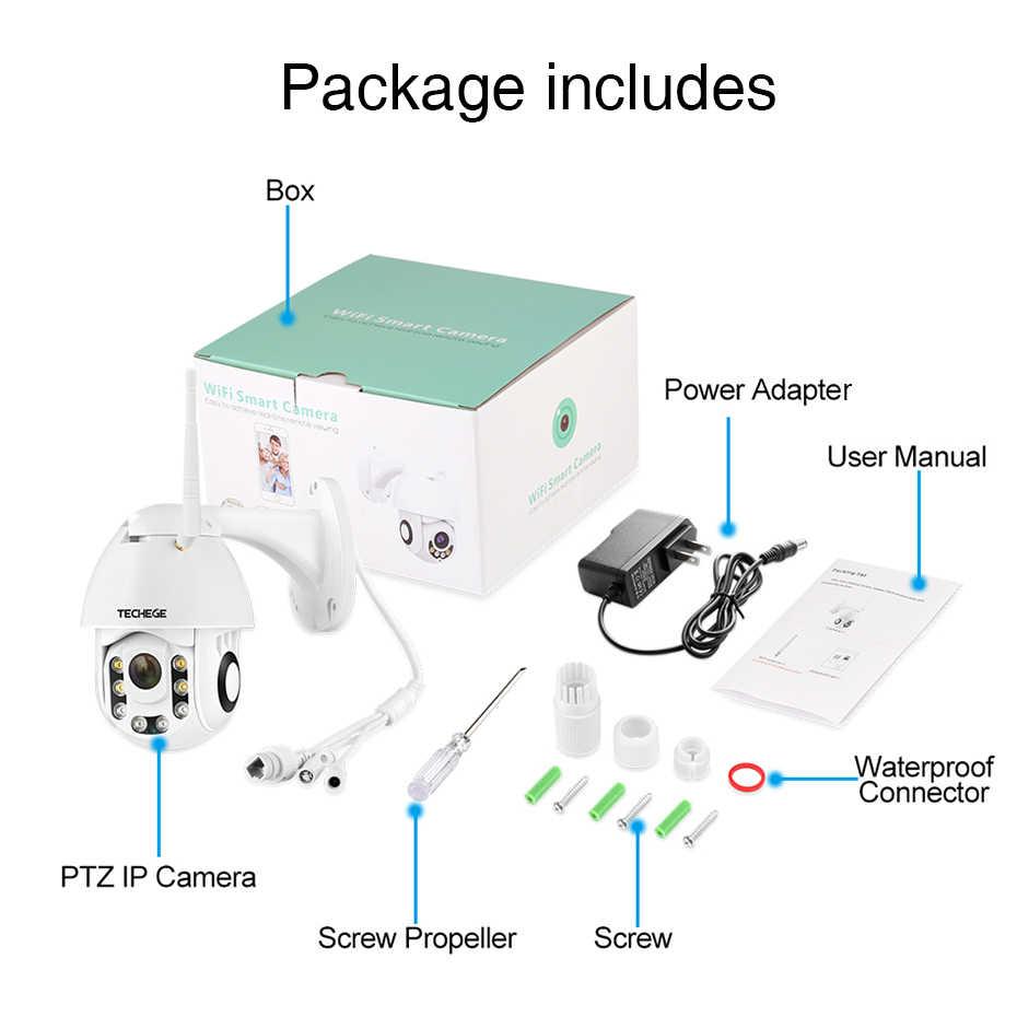 Techege HD 1080P Беспроводная ip-камера CCTV AI для обнаружения человека панорамирование наклона Интерком 2MP камера безопасности TF хранение Открытый водонепроницаемый