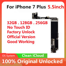 Original Motherboard For iPhone 7 Plus 5.5inch Factory Unlock Mainboard with / No Touch ID With Chips IOS Logic Board