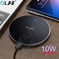 Олаф 10 Вт Qi Беспроводное зарядное устройство для iPhone 11 Pro Max быстрое USB зарядное устройство Быстрая зарядка для samsung S10 S9 Xiaomi Беспроводное заря...