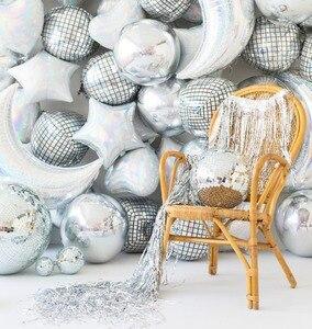 Image 3 - Globo de helio Disco 4D de 22 pulgadas, globo de aire de Color para cumpleaños y fiesta de boda, suministros de baño para bebé, globos decorativos, 20 Uds.