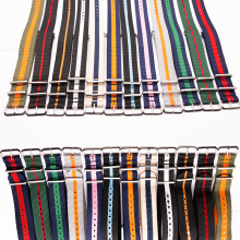 Watch Band 18MM 20MM 22MM 24MM for NATO Style Wristband Durable Nylon Striped Strap Compatible with Sport Casual Watch Bracelet