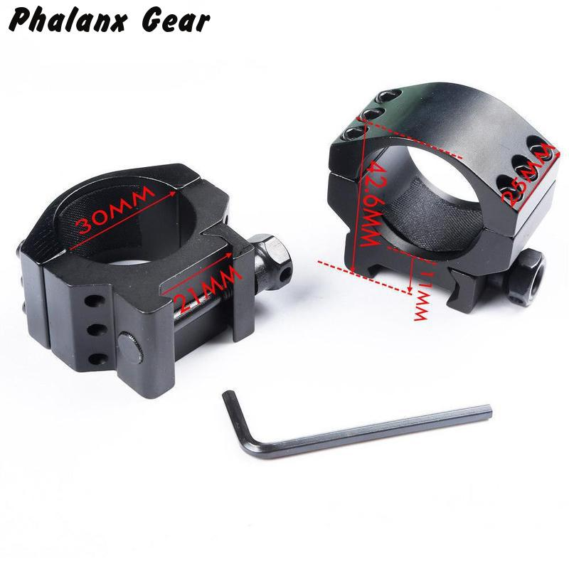 Low Profile Ring Weaver Picatinny Rail Scope Mount Heavy 6 Bolts 30mm Scope Ring Extreme Hunting accessories(China)