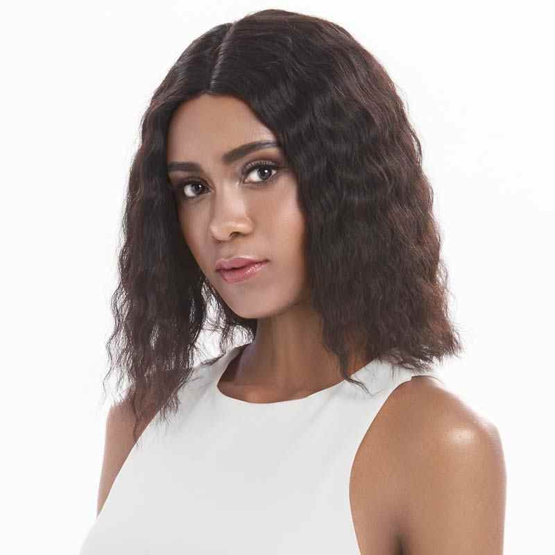 Peluca de pelo humano de Rebeca Peluca de encaje peluca Natural preplumada nudos decolorados pelucas de cabello humano profundo pelucas de mitad de peluca Remy