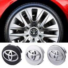 Centre de jante de voiture, 4 pièces, couvercle de moyeu décoratif pour Toyota Corolla Yaris Camry Reiz RAV4 Prado Sienna Yaris, accessoires