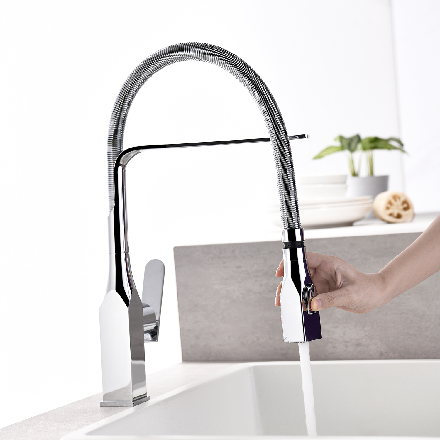 Kitchen Faucet Single Lever Bathroom Faucets with 2 Spray Modes 360 Degree Swivel Basin Sink Faucet Kitchen Mixer Water Tap