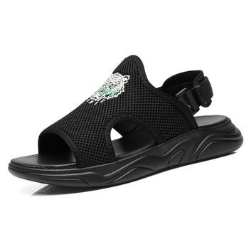 Super Cushion Men's Outdoor Trekking Beach Sandals Slippers Flip Flops Shoes For Men Water Aqua Sandals Shoes Man