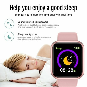 Smart Watch Men Women Smartwatch Heart Rate Blood Pressure Monitor Fitness Tracker Watch Smart Bracelet for Android and IOS 6