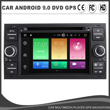 Octa core Android 9.0 Car DVD GPS Player For Ford Fiesta Transit Focus Fusion Kuga Connect Mondeo Galaxy WIFI Navi Radio 4GB+64G image