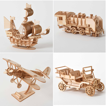 DIY 3D Wooden Puzzle Mechanical Gear Drive Model Building Kit Toys Gift for Children Adult Teens Mechanical Game Assembly Toys 3d dragon woodcraft construction kit diy dragon wooden puzzle game assembly toy gift for children adult children