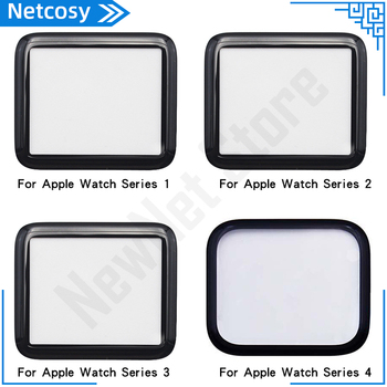 40mm 44mm Front Outer Glass Lens Cover Replacement Parts For Apple Watch Series 1 2 3 4 38mm 40mm 42mm 44mm LCD Glass image